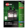 Avery Easy Peel UltraDuty GHS Chemical Labels, Inkjet, 2 x 4 , 500/Pack