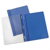 "Report Cover, Tang Clip, Letter, 1/2"" Capacity, Clear/Blue, 25/Box"