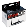Read Right Notebook ScreenKleen Pads, Cloth, 5 x 4 3/8, White, 24/Box