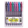 Pilot G2 Premium Retractable Gel Ink Pen, Assorted Ink, 1mm, 8/Pack