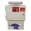 Locking Wall Mount Sharps Cabinet w/Glove Box Holder, 5 qt, 13 x 5 x 18.5, Beige