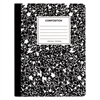 Universal Composition Book, Wide Rule, 9 3/4 x 7 1/2, White, 100 Sheets, 6/Pack