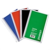 Universal 3 Sub. Wirebound Notebook, 6 x 9.5, College Rule, 120 Sht, Assorted Covers, 4/PK