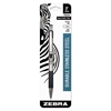 Zebra F-301 Ballpoint Retractable Pen, Black Ink, Medium