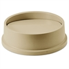 Swing Top Lid for Round Waste Container, Plastic, Beige
