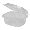 Clear Hinged Deli Container, Plastic, 12 oz, 5-3/8 x 4-1/2 x 2-1/2, 200/Carton
