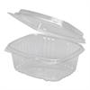 Genpak Clear Hinged Deli Container, Plastic, 12 oz, 5-3/8 x 4-1/2 x 2-1/2, 200/Carton
