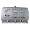 Tidy Girl Tidy Girl Plastic Feminine Hygiene Disposal Bag Dispenser, Gray