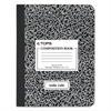 Composition Book w/Hard Cover, Legal/Wide, 9 3/4 x 7 1/2, White, 100 Sheets