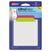 Ultra Tabs Repositionable Tabs, 3 x 3 1/2, Neon: Green, Pink, 12/Pack