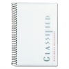 TOPS Classified Colors Notebook, Frosted Cover, 8 1/2 x 5 1/2, White, 100 Sheets