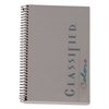 Classified Colors Notebook, Graphite Cover, 8 1/2 x 5 1/2, White, 100 Sheets