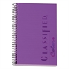 Classified Colors Notebook, Narrow, 8 1/2 x 5 1/2, Orchid, 100 Sheets