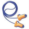 Howard Leight by Honeywell LT-30 Laser Trak Single-Use Earplugs, Corded, 32NRR, Orange/Blue, 100 Pairs