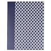 Universal Casebound Hardcover Notebook, 10 1/4 x 7 5/8, Dark Blue with Hexagon Pattern