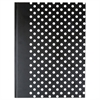 Casebound Hardcover Notebook, 10 1/4 x 7 5/8, Black with White Dots