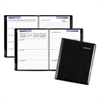 Executive Weekly/Monthly Planner, 6 7/8 x 8 3/4, Black, 2017