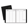 Weekly Appointment Book, Academic, 8 1/4 x 10 7/8, Black, 2016-2017