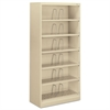 HON 600 Series Steel Open Shelving, Six-Shelf, 36w x 16-3/4d x 75-7/8h, Putty