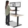 Victor High Rise Collection Dual Monitor Sit-Stand Desk Converter, 28 x 23 x 15.5, Blk