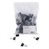 "Mini Binder Clips, Zip-Seal Bag, 1/4"" Capacity, 5/8"" Wide, Black, 144/Bag"