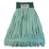 Microfiber Looped-End Wet Mop Head, Large, Green, 12/Carton