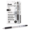 R.S.V.P. RT Retractable Ballpoint Pen, 1mm, Clear Barrel, Black Ink, Dozen