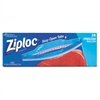 Ziploc Double Zipper Freezer Bags, Plastic, 1 gal, 2.7mil, Clear, 28/Box