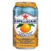 San Pellegrino Sparkling Fruit Beverages, Aranciata (Orange), 11.15 oz Can, 12/Carton