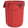Rubbermaid Commercial Round Brute Container, Plastic, 20 gal, Red, 6/Carton