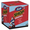 Shop Towels, POP-UP Box, Blue, 10 x 13, 200/Box, 8 Boxes/Carton