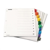 Cardinal Traditional OneStep Index System, 10-Tab, 1-10, Letter, Multicolor, 6 Sets