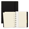 Filofax Notebook, College Rule, Black Cover, 8 1/4 x 5 13/16, 112 Sheets/Pad