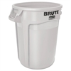 Rubbermaid Commercial Round Brute Container, Plastic, 10 gal, White
