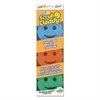 Scratch-Free Scrubbing Sponge, Round, 4 x 6 x 1 1/2, Assorted, 3/Pack