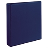 "Avery Durable View Binder w/Slant Rings, 11 x 8 1/2, 1 1/2"" Cap, Blue"