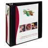 "Heavy-Duty Non Stick View Binder w/Slant Rings, 3"" Cap, Black"