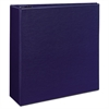 "Avery Durable Binder with Two Booster EZD Rings, 11 x 8 1/2, 4"", Blue"