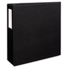 "Durable Binder with Two Booster EZD Rings, 11 x 8 1/2, 4"", Black"