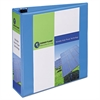 "Heavy-Duty Non Stick View Binder w/Slant Rings, 3"" Cap, Light Blue"