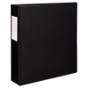 "Avery Durable Binder with Two Booster EZD Rings, 11 x 8 1/2, 2"", Black"