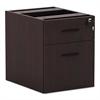 Valencia Series 3/4 Box/File Pedestal,15 5/8w x 20 1/2d x 19 1/4h,Mahogany