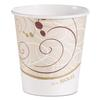 SOLO Cup Company Paper Hot Cups in Symphony Design, 10 oz, Beige/White/Red, 1000/Carton