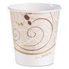 Paper Hot Cups in Symphony Design, 10 oz, Beige/White/Red, 1000/Carton