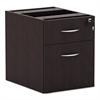 Alera Valencia Series 3/4 Box/File Pedestal,15 5/8w x 20 1/2d x 19 1/4h,Espresso