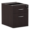 Alera Alera Valencia Series 3/4 Box/File Pedestal,15 5/8w x 20 1/2d x 19 1/4h,Espresso