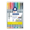Staedtler triplus Fineliner Marker, Super Fine, Water-Based, 10 Color Set