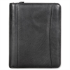 FranklinCovey Nappa Leather Ring Bound Organizer w/Zipper, 8 x 10, Black