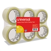 "General-Purpose Box Sealing Tape, 48mm x 54.8m, 3"" Core, Clear, 6/Pack"