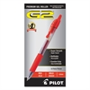 Pilot G2 Premium Retractable Gel Ink Pen, Refillable, Red Ink, 1mm, Dozen